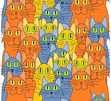 Thirty-One Kitty Cats by Jean Gregory  Evans