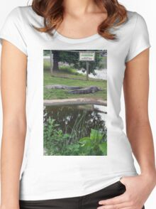 Alligator Guidelines Women's Fitted Scoop T-Shirt