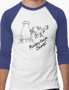 Monkey-Ninja Bomb - Light Men's Baseball ¾ T-Shirt