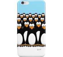 Pensive Penguin Army iPhone Case/Skin