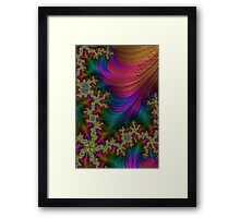 Pink Rainbow Yellow Moss Fractal 28 Framed Print