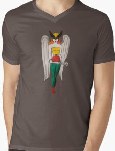 Hawkgirl Mens V-Neck T-Shirt