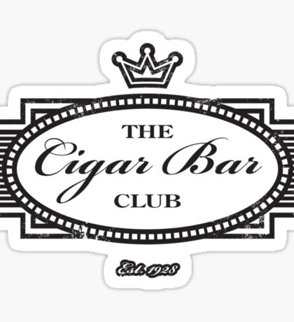 The Cigar Bar Club Sticker