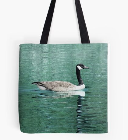 Canada Goose On Shimmering, Shimmering Water Tote Bag