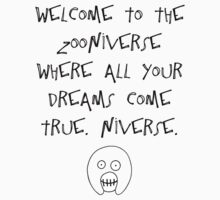 The Mighty Boosh – Welcome to the Zooniverse (Black) by PonchTheOwl