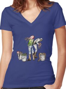 Blood Deep Women's Fitted V-Neck T-Shirt