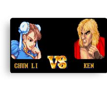 CHUN LI VS KEN - FIGHT! Canvas Print