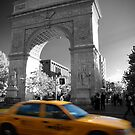 Washington Square Taxi by Tom  Marriott
