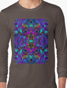 Fractal Floral Abstract  Long Sleeve T-Shirt