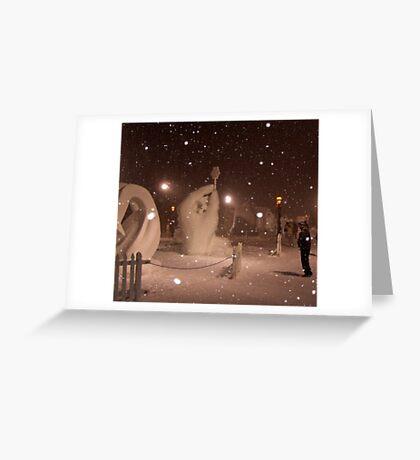 Snow Sculptures, Breck. Greeting Card