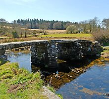 Postbridge Clapper Bridge, Dartmoor by buttonpresser