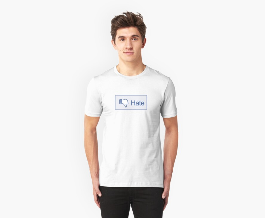 Hate Button T-Shirt by likebutton