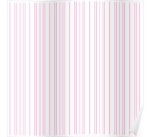 Candy Stripe Pink and White Poster