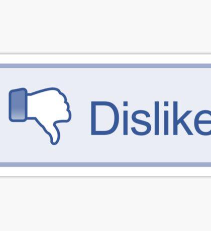 Dislike Button T-Shirt Sticker