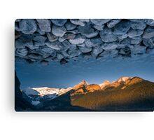 Rocky Skies at Lake Louise Canvas Print