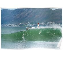 Cape Town wave at Kalk Bay Poster