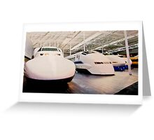 Bullet Trains Greeting Card