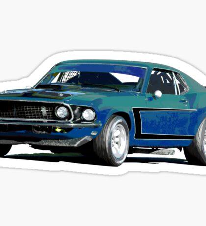 1969 Boss 302 - Mustang Fastback Sticker