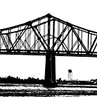 CCC over the Mississippi in New Orleans II by Lesley Rosenberg