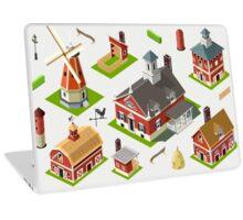 Isometric Great American Barn Set Laptop Skin