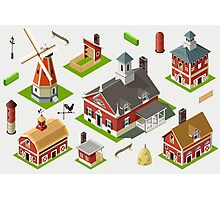 Isometric Great American Barn Set Photographic Print