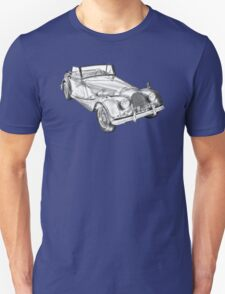 1964 Morgan Plus 4 Convertible Sports Car Illustration T-Shirt