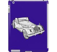 1964 Morgan Plus 4 Convertible Sports Car Illustration iPad Case/Skin