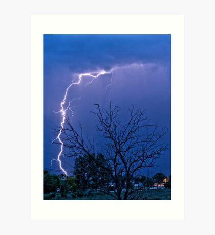 17th Street  Lightning Strike Art Print