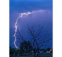 17th Street  Lightning Strike Photographic Print