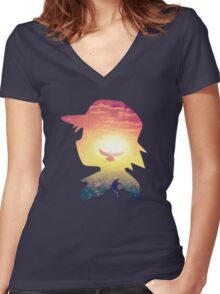 Pika Dream Women's Fitted V-Neck T-Shirt