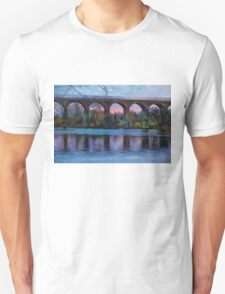 Viaduct at Reddish Vale Country Park Unisex T-Shirt
