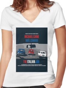 The Italian Job - Movie Poster Women's Fitted V-Neck T-Shirt