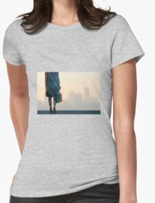 Edge of the City Womens Fitted T-Shirt