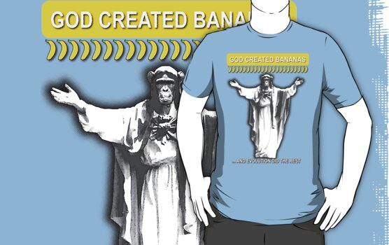 God created bananas by Octochimp Designs