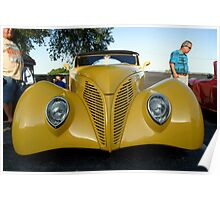 Yellow Custom Car Poster