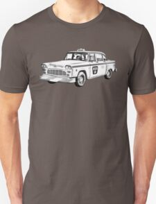 Checkered Taxi Cab Illustrastion T-Shirt