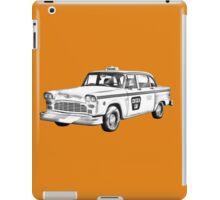 Checkered Taxi Cab Illustrastion iPad Case/Skin