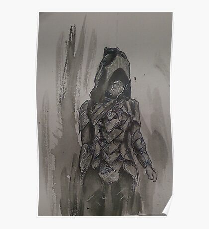 Nightingale Armour Watercolour Poster