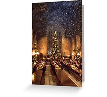 Hogwarts at Christmas Greeting Card