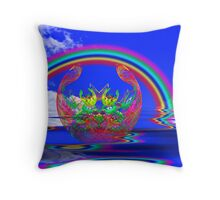 Easter under the Rainbow Throw Pillow