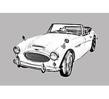 Austin Healey 300 Sports Car Drawing Photographic Print