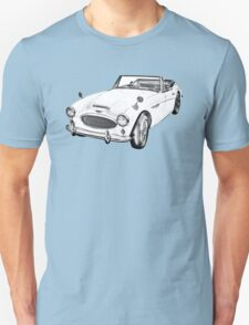 Austin Healey 300 Sports Car Drawing T-Shirt