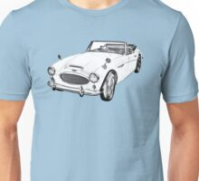 Austin Healey 300 Sports Car Drawing Unisex T-Shirt