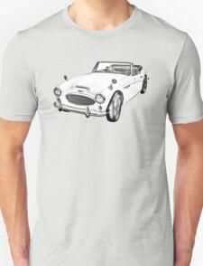 Austin Healey 300 Sports Car Drawing T-Shirt