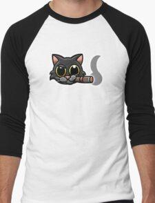 Smoking Cat Men's Baseball ¾ T-Shirt