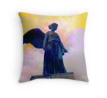 Yellow Angel Throw Pillow