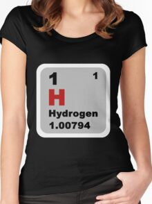 Periodic Table of Elements: No. 1 hydrogen Women's Fitted Scoop T-Shirt