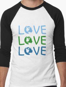L O V E - Earth Day Men's Baseball ¾ T-Shirt