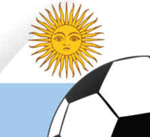 argentina shield soccer with the sun of may Sticker