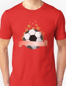 soccer ribbon with green curls in the air T-Shirt